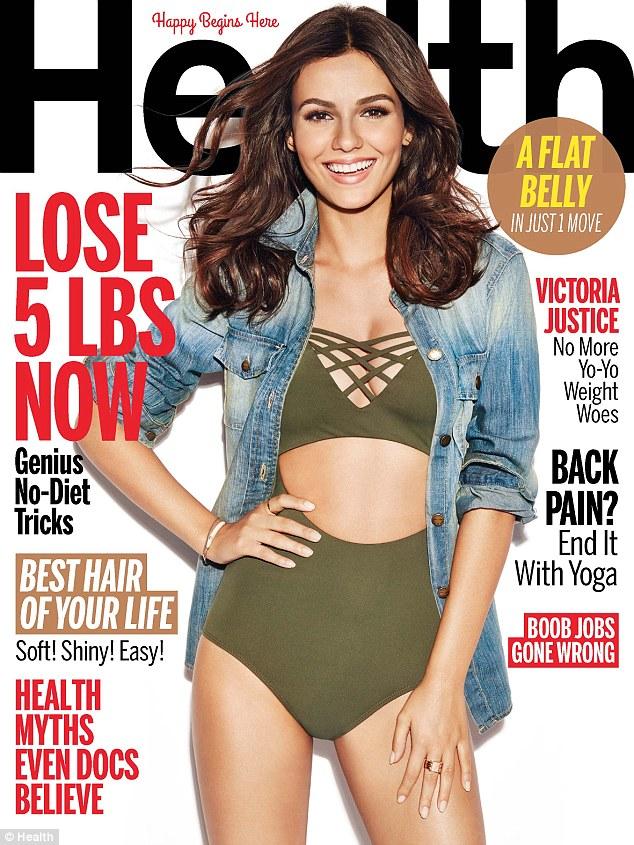 美女星维多利亚·贾斯蒂斯登《Health》杂志封面