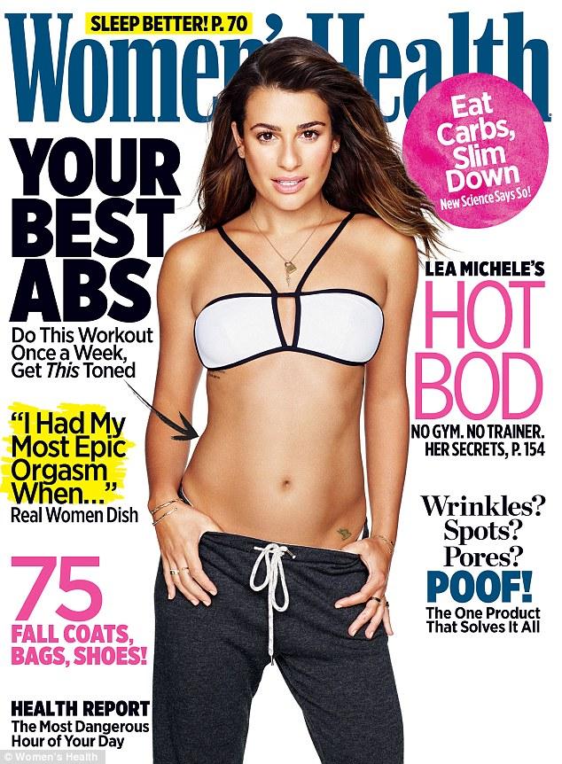 《欢乐合唱团》女星丽娅·米雪儿登《Women's Health》杂志封面