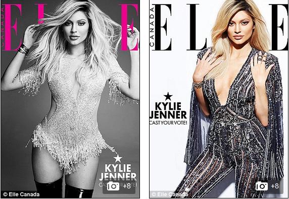 美女星凯莉•詹娜登上《Elle》杂志封面