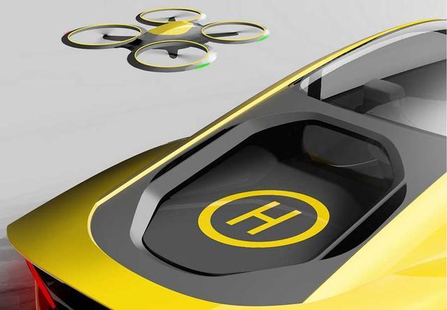 瑞士无人驾驶概念车曝光 配无人机小跟班