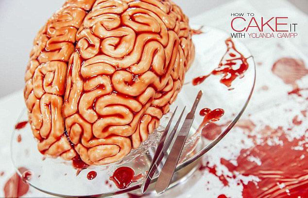 """英媒教你如何做""""血淋淋""""的""""人脑""""蛋糕"""