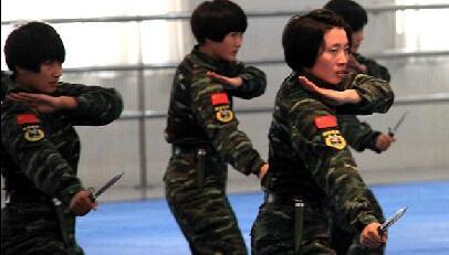 东盟军队高层观摩猎鹰突击队女子格斗等演练