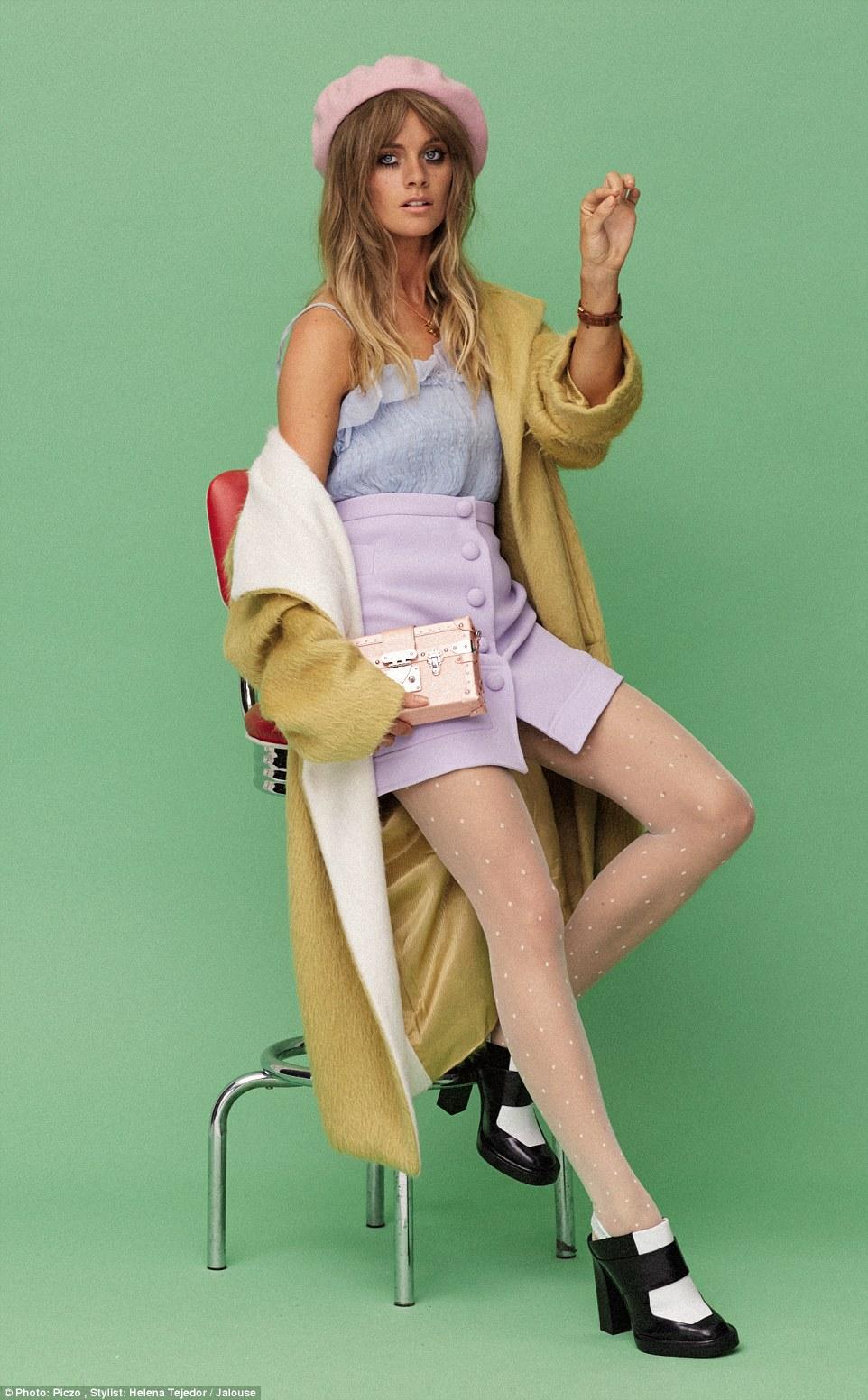 哈里王子前女友博纳斯为法国杂志《Jalouse》拍大片