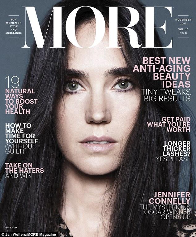 《美丽心灵》女星詹妮弗·康纳利登《More Magazine》杂志