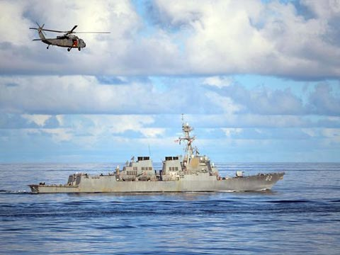 现场:美防长承认派舰闯南海 称应将巡航常规化