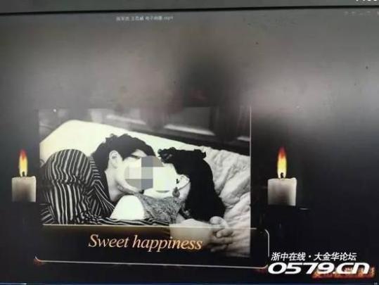 浙江一对夫妻收到婚纱照 照片两侧插白蜡烛(图)