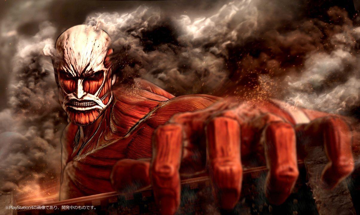 《进击的巨人》PS4实机截图 赤红巨人霸气扒墙