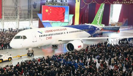 中国造大飞机C919万众瞩目下线高清无码大图