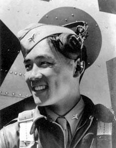 揭密惟一击落过日美两国战机的中国飞行员