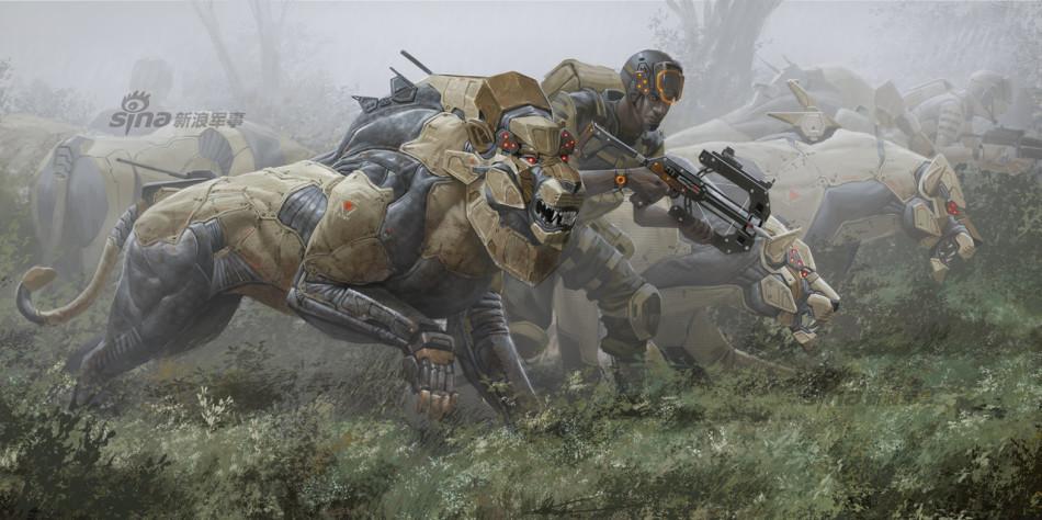 国外网友精彩概念图:非洲猛兽变身机械战士