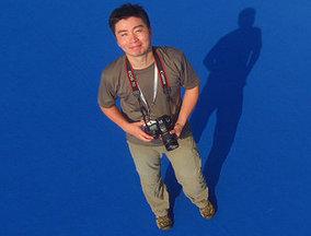 环球记者体验无人机高空自拍