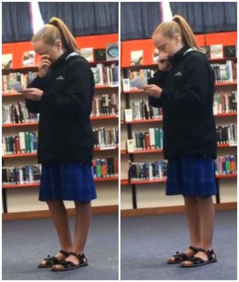 新西兰女中学生身残志坚发表演说激励众人