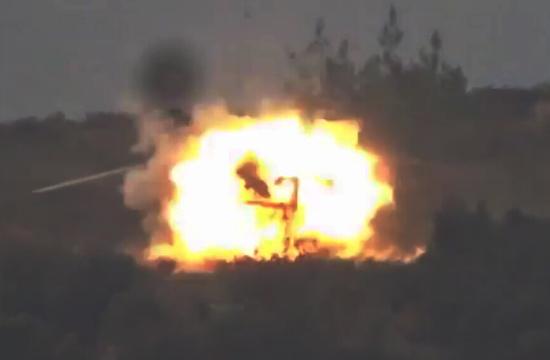 疑似俄救援直升机被导弹击毁
