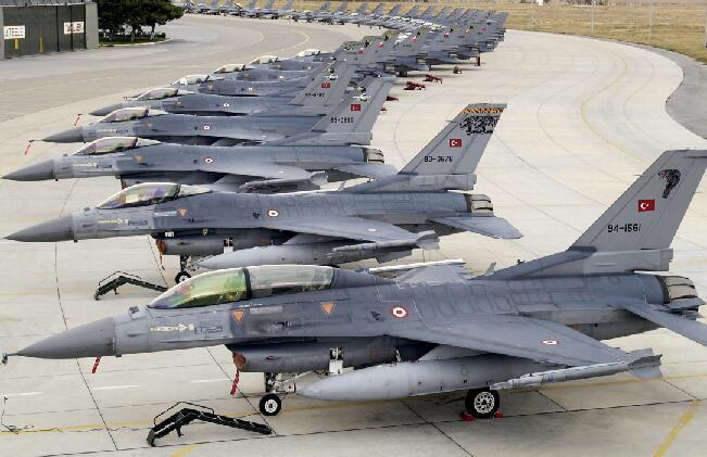 一望无边!土耳其空军F-16规模世界第三
