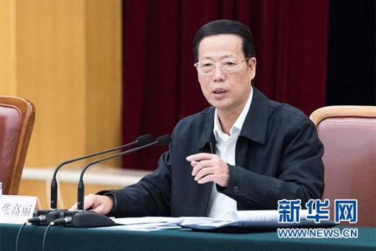 张高丽主持推动长江经济带发展工作会议并讲话