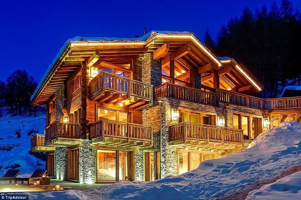 瑞士策马特:天使木屋酒店此木屋酒店配有7间卧室