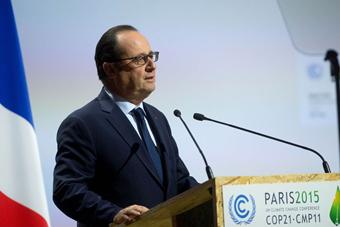 法国气候大会拉开帷幕 奥朗德等致辞