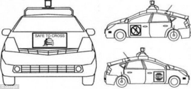 谷歌新专利:无人驾驶汽车与行人沟通