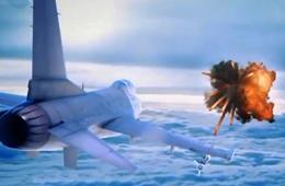 俄军苏24被土耳其F-16击落动画模拟