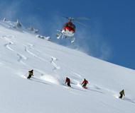 五大冰雪圣地:北美三处 阿拉斯加直升机滑雪