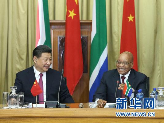 习近平同南非总统祖马举行会谈