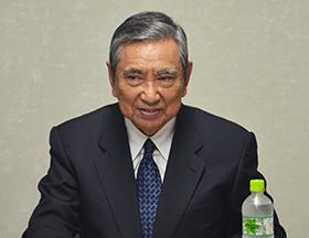 三国记者采访日本前自民党总裁河野洋平