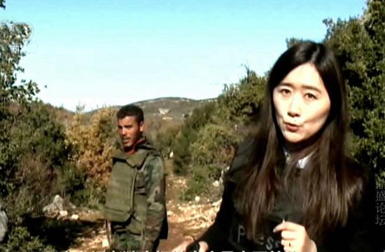 中国女记者探访叙利亚战区前线