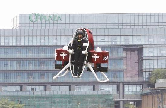 马丁单人飞行包在中国首飞