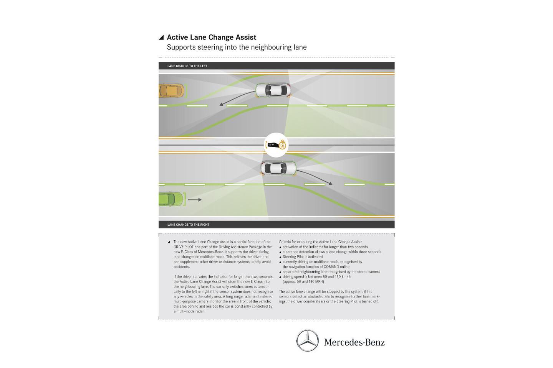 奔驰E级将搭载新技术 升级版变道辅助系统