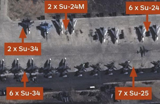 卫星曝俄军向叙增派4架苏34