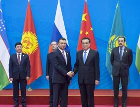 李克强迎接上合组织各国领导人