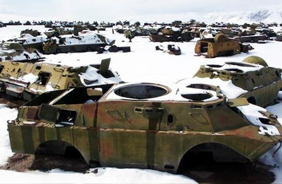 阿富汗坦克坟场钢铁洪流沉睡