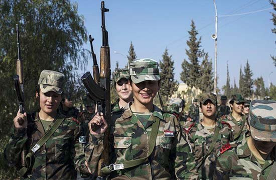 叙利亚政府军女兵如何炼成?