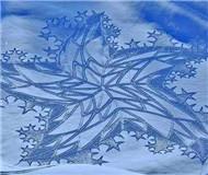 城会玩!滑雪又添新创意 英国大叔踩出惊艳雪地画