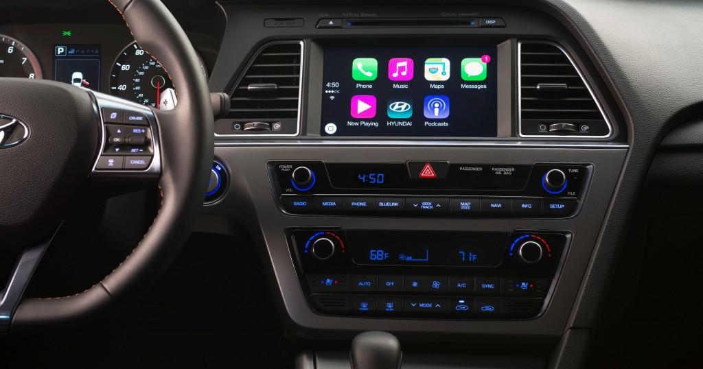 现代索纳塔2016年起将采用苹果CarPlay系统