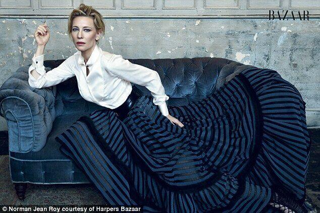 凯特•布兰切特登《Harpers Bazaar》杂志展现女王范儿