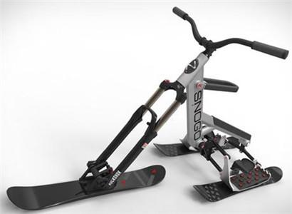 """小白神器!滑雪""""自行车"""""""