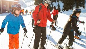 一个没有汽车污染的滑雪胜地