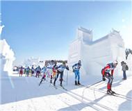 """越野滑雪:5000余名中外选手竞逐""""中国瓦萨"""""""