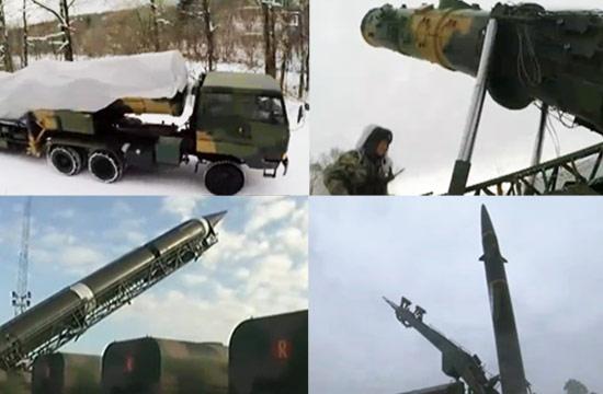 火箭军多支导弹部队踏雪出征