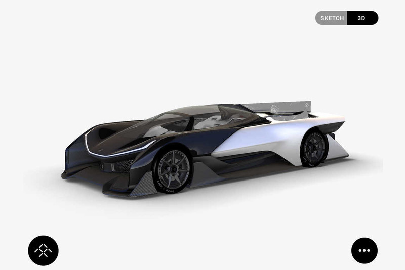 Faraday Future概念车曝光 动力达1000马力