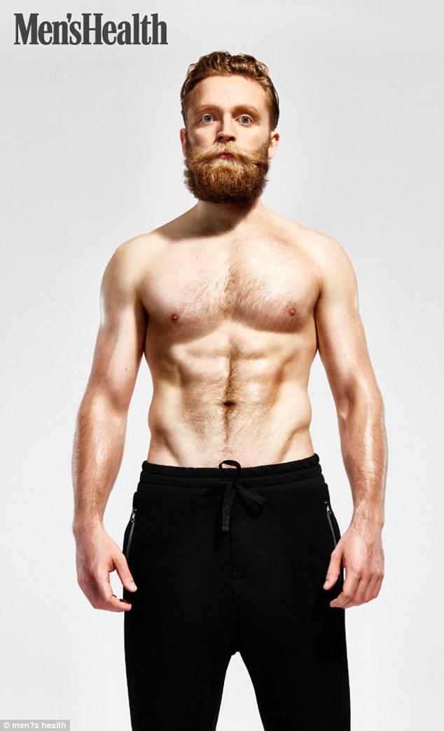英男子健身3个月减掉啤酒肚练出6块腹肌