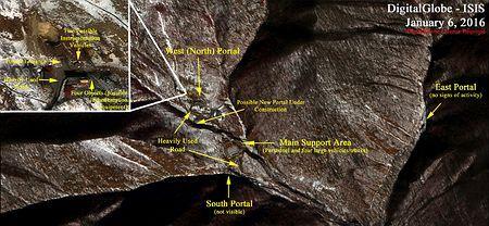 美研究所公布朝鲜核试验场实施氢弹试验后卫星图像