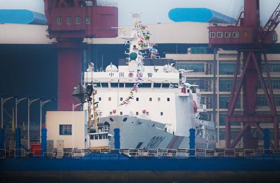第二艘国产万吨海警船整装待发