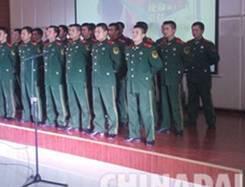 唐山迁安第三高中举行拥军慰问文艺团演出