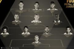 FIFA最佳11人阵容:皇马巴萨各4人 英超无一入选