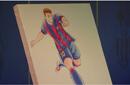 足球小将作者送梅西漫画像 称巴萨给其创作灵感