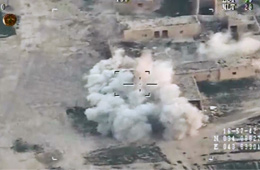 伊拉克公布无人机空袭武装分子画面