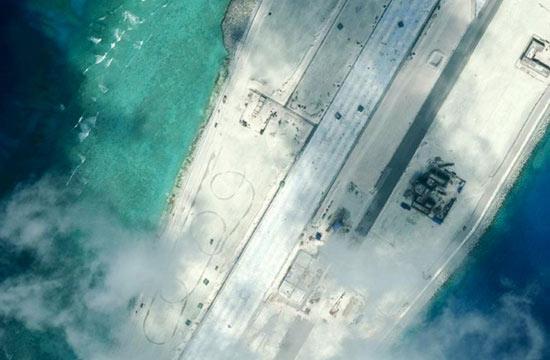 美智库公布美济礁渚碧礁卫星照