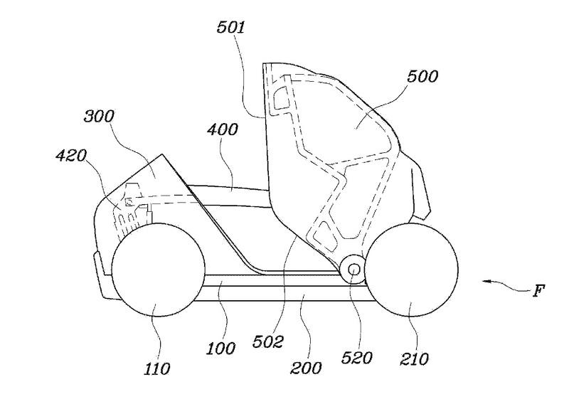 现代在美申请可折叠城市车专利 图纸曝光